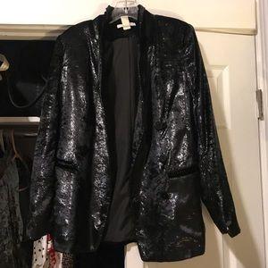 Black Velvet and Metallic Blazer